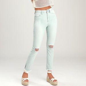 Jordache Molly Light Wash Distressed Skinny Jeans